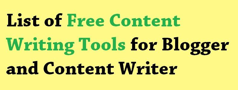 free content writing tool
