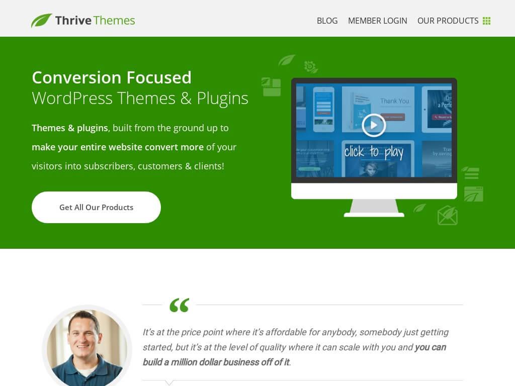 thrive themes plugin