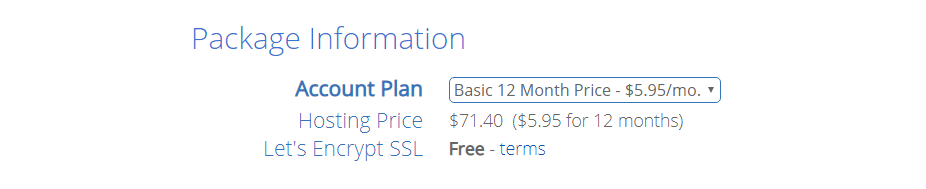 bluehost hosting price basic 12 months