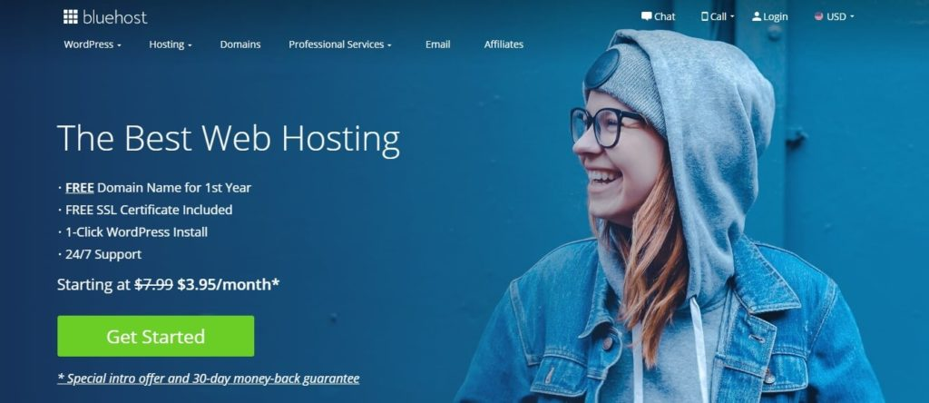 bluehost the best web hosting - save money on hosting