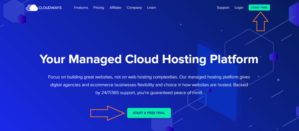 cloudways offers managed cloud hosting