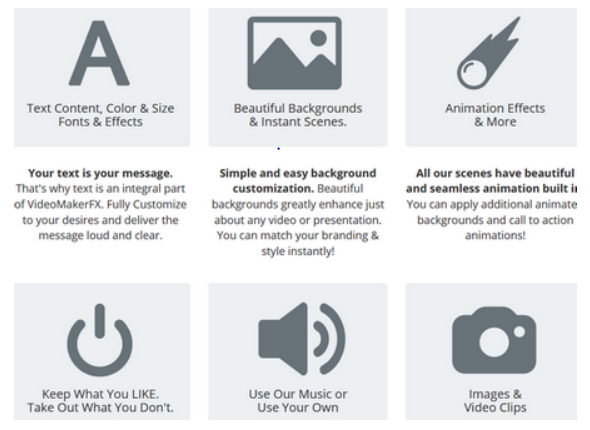 Features of VideoMaker FX