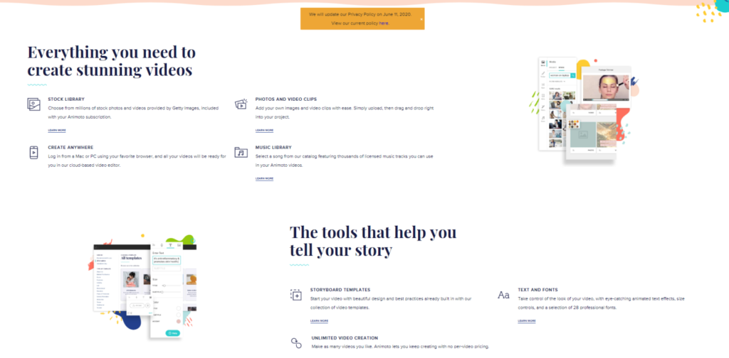 Features of Animoto