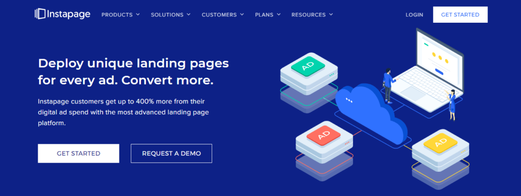 create landing page with instapage