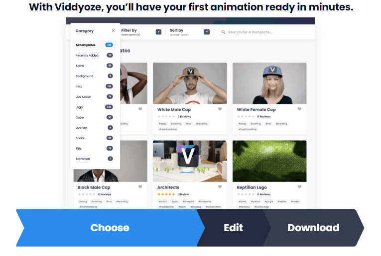 create first animation video in minutes on viddyoze