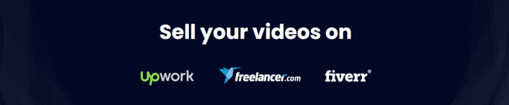 sell your videos on upwork freelancer fiverr