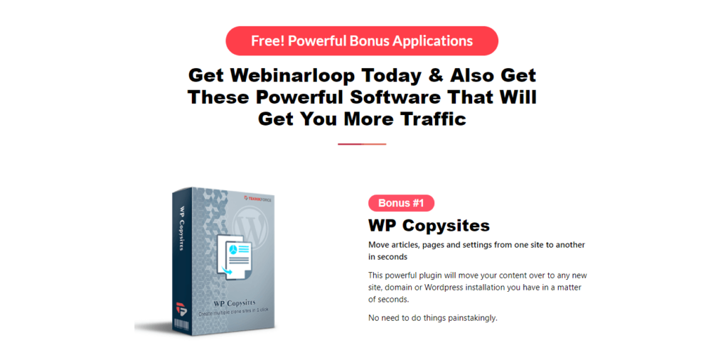webinarloop bonus