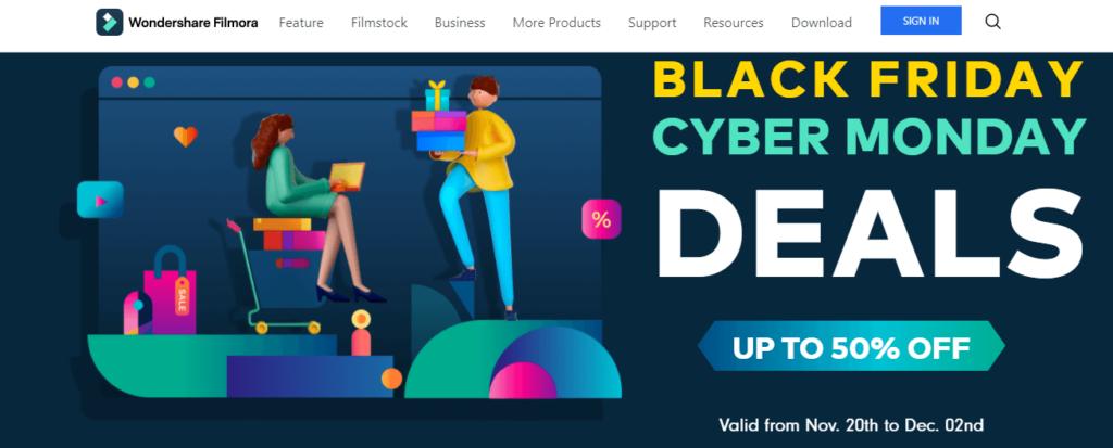 filmora black friday deals 2020