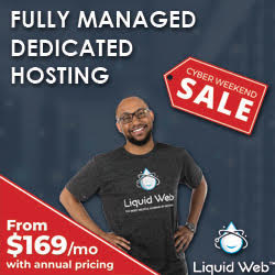 liquid web managed dedicated hosting black friday and cyber monday sale