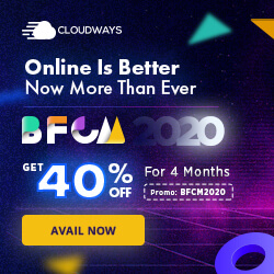 cloudways black friday and cyber monday coupon code bfcm2020