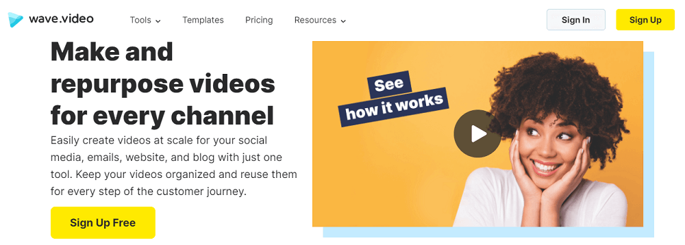 easily create videos with wave.video