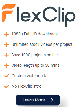 sign up to flexclip now