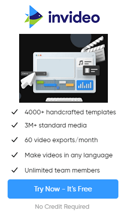 try InVideo for free